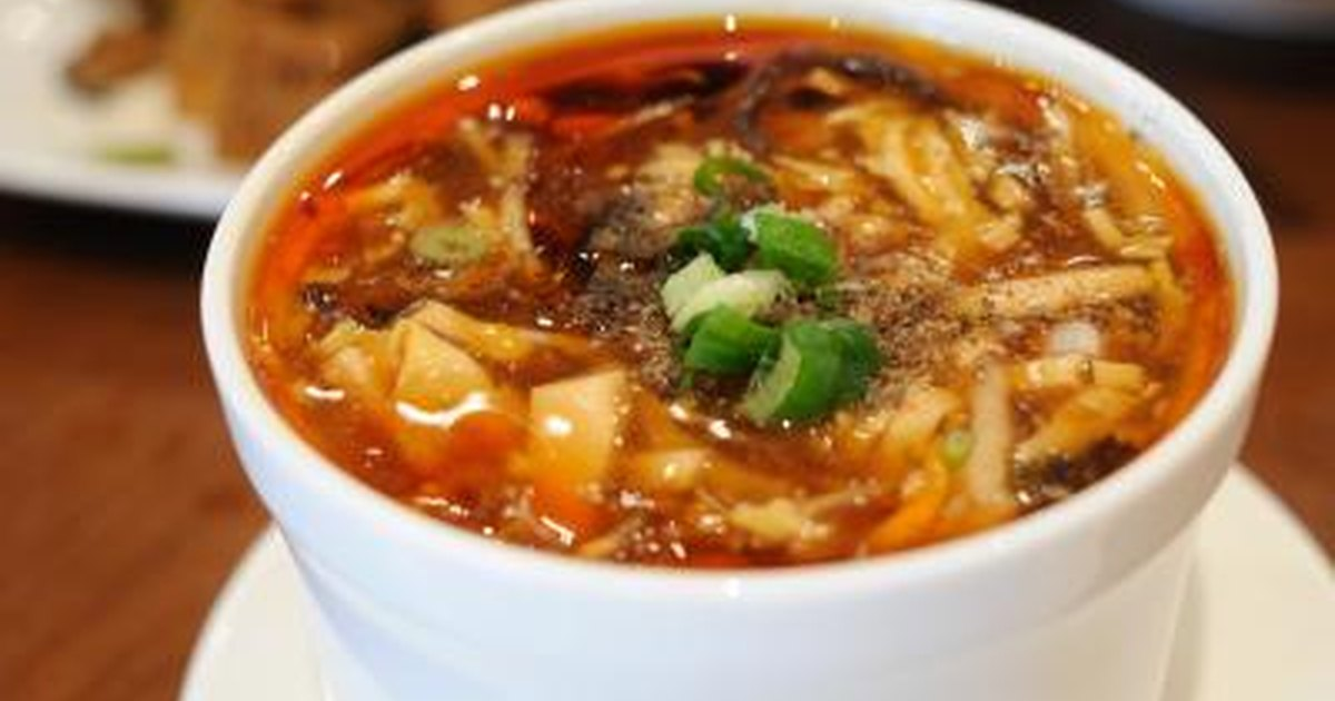 Nutritional Facts For Hot Sour Soup Livestrong