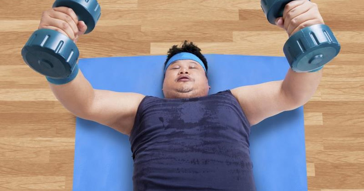 Obese people exercising