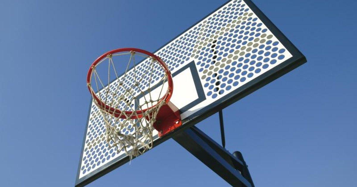 How to make a homemade basketball rim livestrong com for How to build a basketball goal