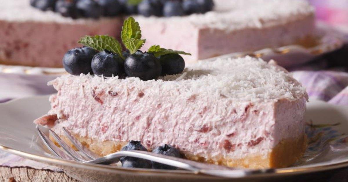 No Bake Blueberry Cream Cheese Pie With Condensed Milk & Lemon Juice ...