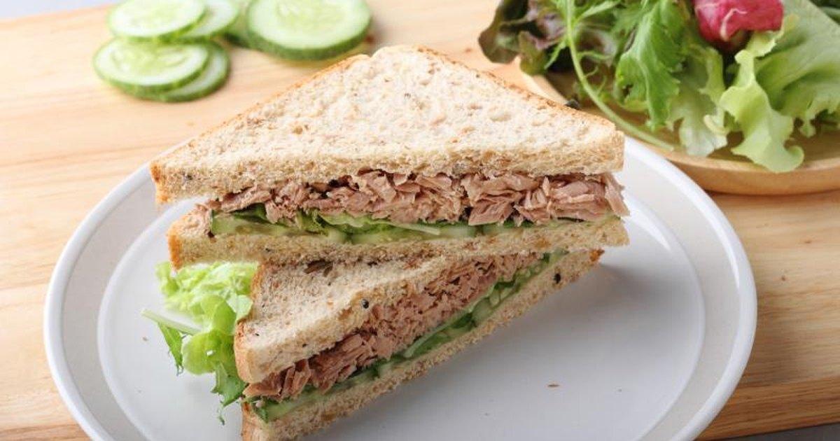 Calories in tuna salad sandwich for Tuna fish salad calories