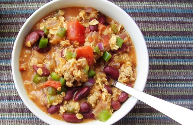 Stewed Cajun Turkey, Red Beans and Oats