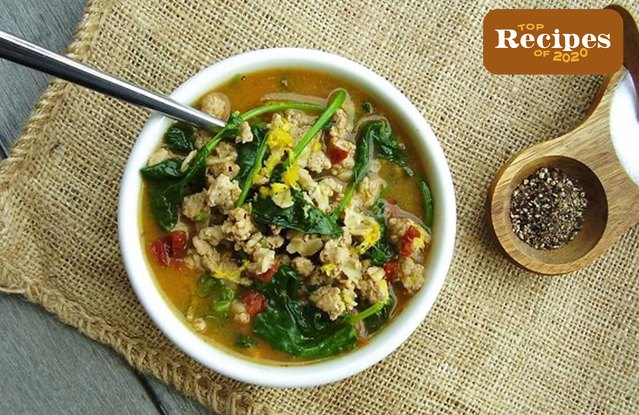 Cajun Turkey and Greens Hot Cereal Bowl