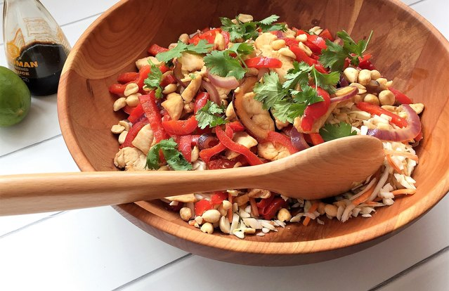 Asian Chicken Stir-Fry Salad