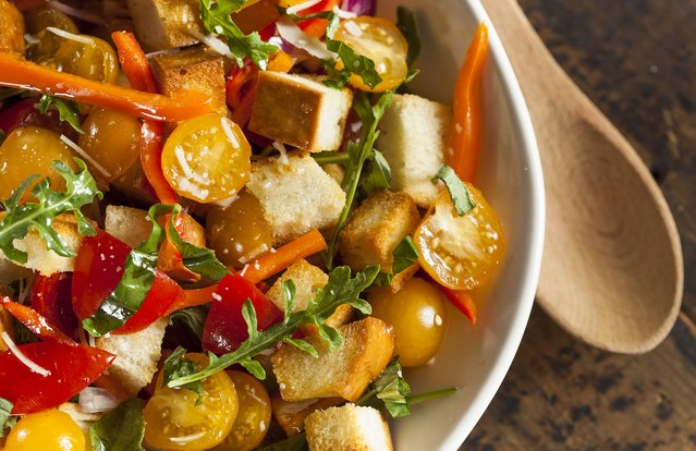 Personal Panzanella (From Leftover: Stale Bread)