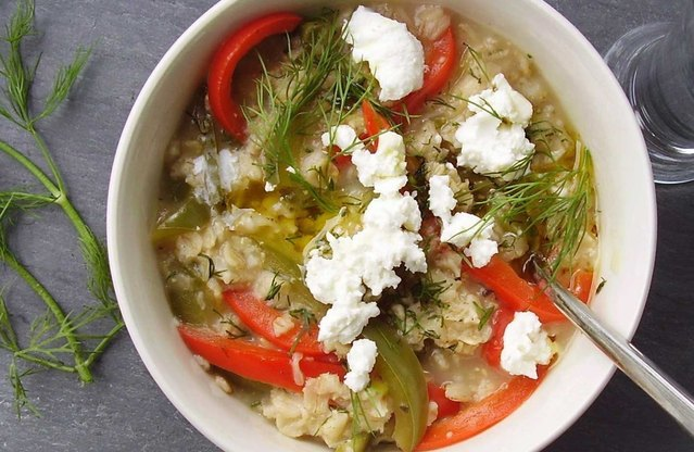 Savory Herb and Bell Pepper Hot Cereal