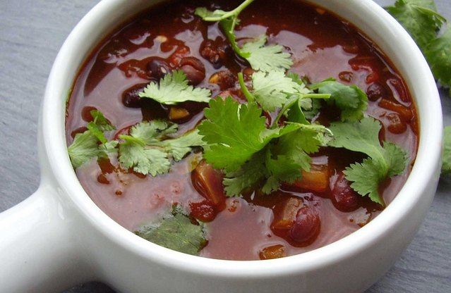 Spicy Vegan Gameday Chili Soup