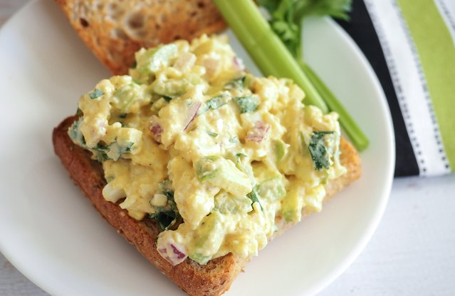 Overnight Egg Salad Toast