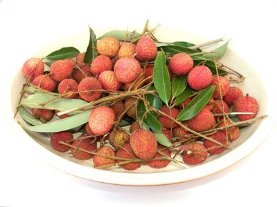 Lychee berries from China are a high-sugar fruit.