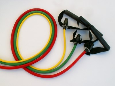 Resistance band exercises build strength and improve flexibility.