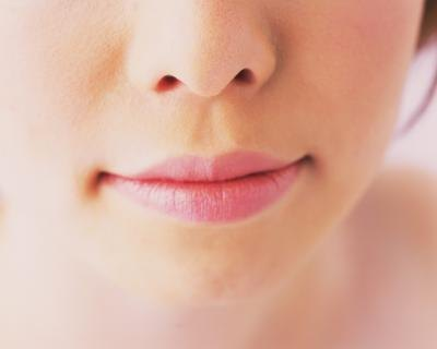 Woman's moisturized lips