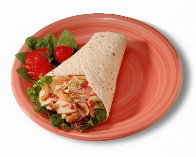 Nutrition Facts for White Tortilla Wraps