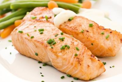 Try grilled salmon instead of steak.