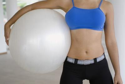 How to Remove an Exercise Ball Plug