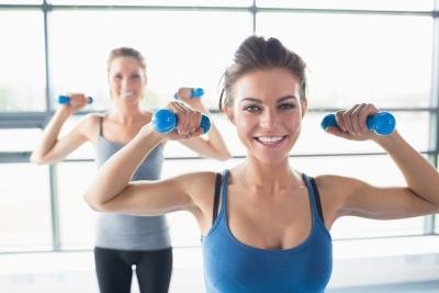 Strength training helps you lose weight and tone.