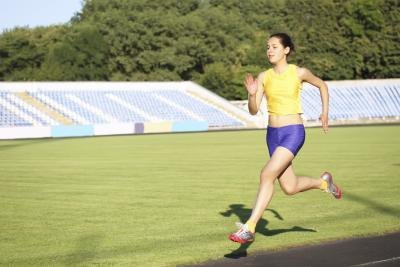 Sprinting for two minutes with a one-minute recovery jog is an example of interval training.