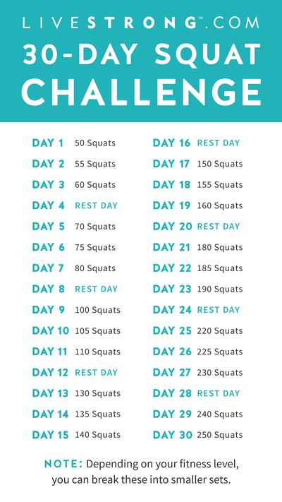Livestrong Challenge The 30 Day Squat Challenge Livestrong