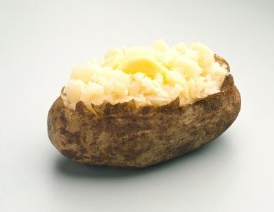 Baked Potatoes With Olive Oil and Sea Salt