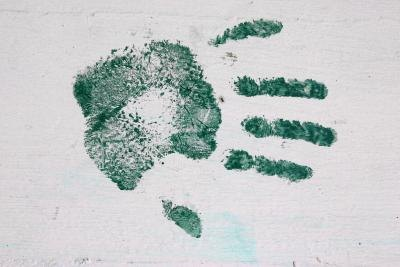 Safe Way to Get a Baby's Hand Print