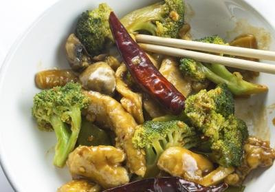 How Many Calories Are in a Chicken & Broccoli Chinese Dish?