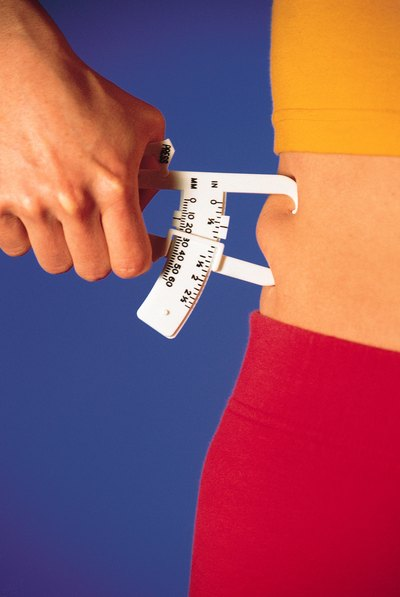 These calipers measure the fat under the skin, in specific areas