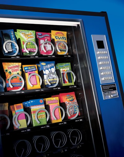 Suggest healthy options in the vending machine or cafeteria.