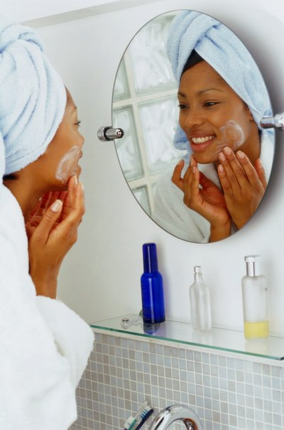 The best defense against clogged pores is a good cleansing regimen.