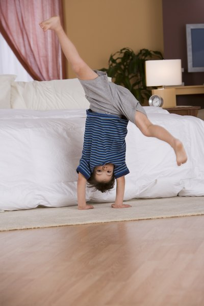How to Do a Handstand Flip Then a Real Flip for Kids