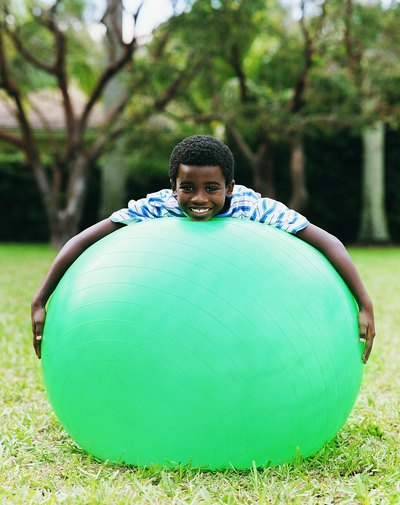 Games for Kids Using Exercise Balls