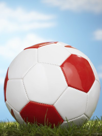 Although synthetic leather soccer balls are used more often, they absorb the most water over time.