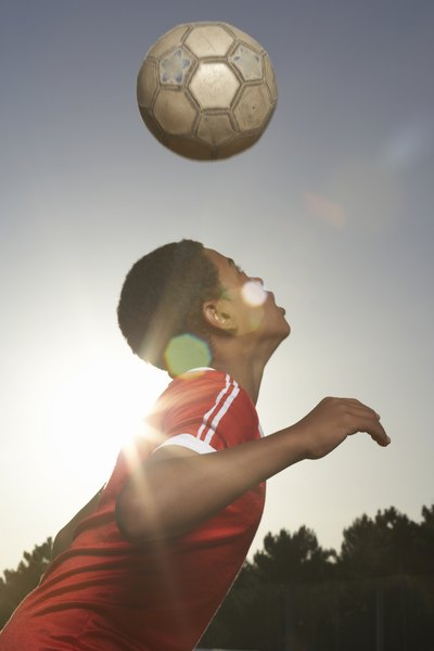 Distance and height depends on how well the soccer ball is inflated.