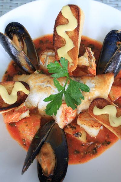 Bouillabaisse is a traditional French fish stew.