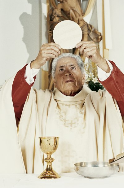 What are the name of the vestments that priests wear ...