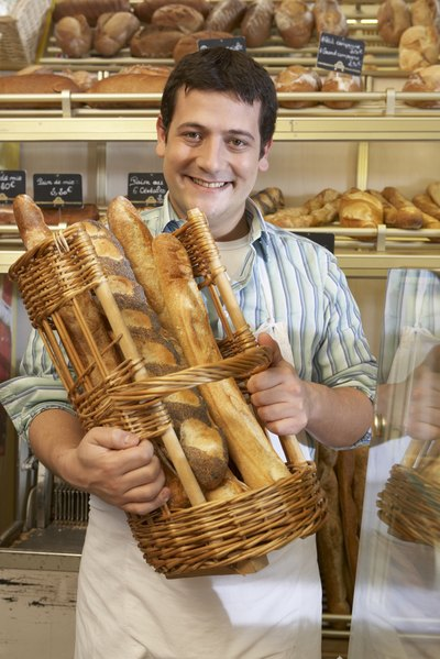 Frenchman with baguettes
