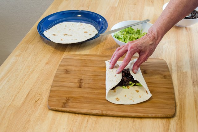 How to Fold a Tortilla Wrap Sandwich