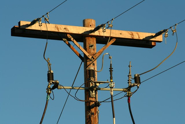 Types Of Electrical Poles : Types of power poles livestrong