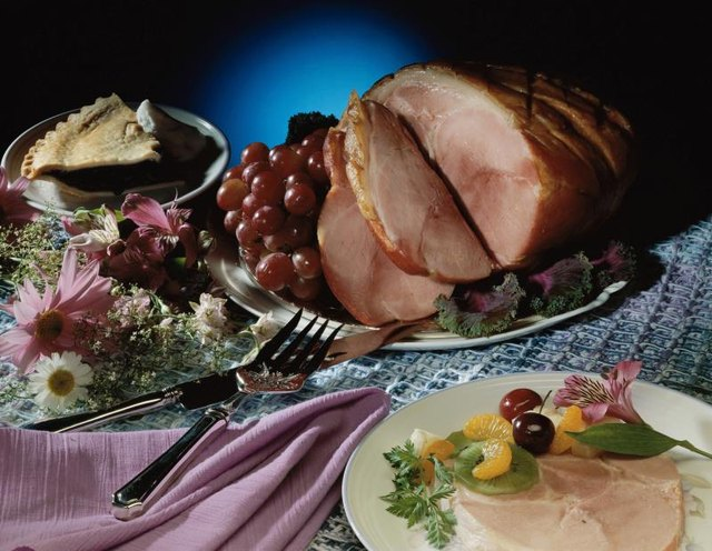 Nutrition Facts for a Slice of Virginia Baked Ham