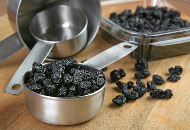 Nutrition Facts for Dried Blueberries