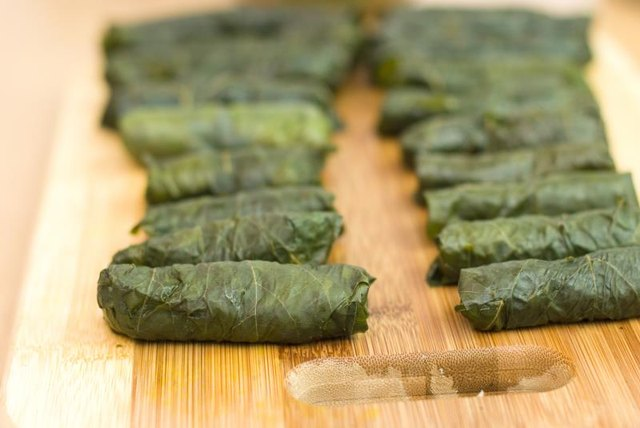 The Calories in Stuffed Grape Leaves
