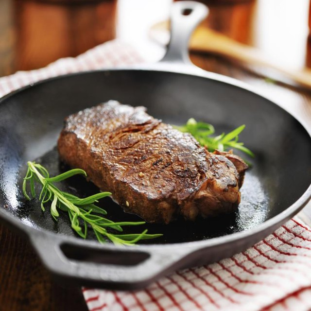 How to Cook an Angus Strip Steak in the Oven