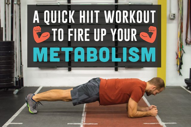 All you need is 20 minutes to amp up your metabolism.