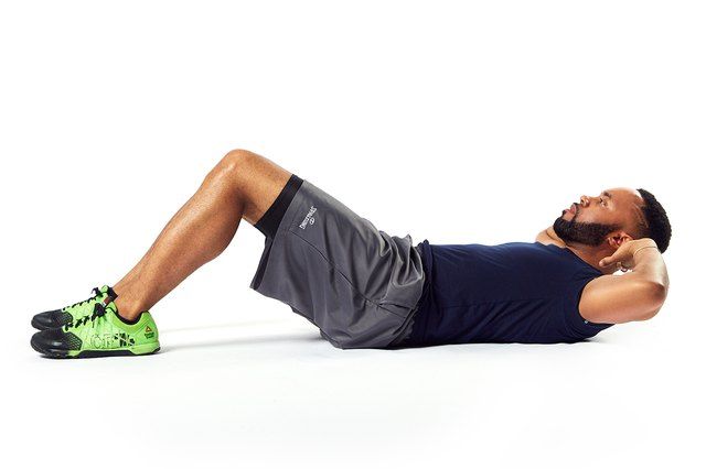 Standard crunches work your abs without weights.