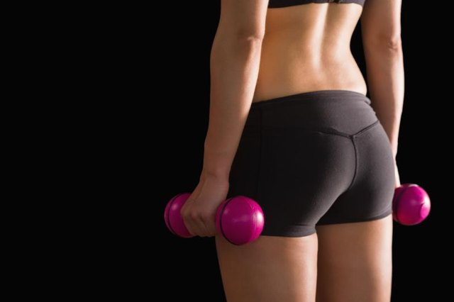 Three muscles make up the glutes.