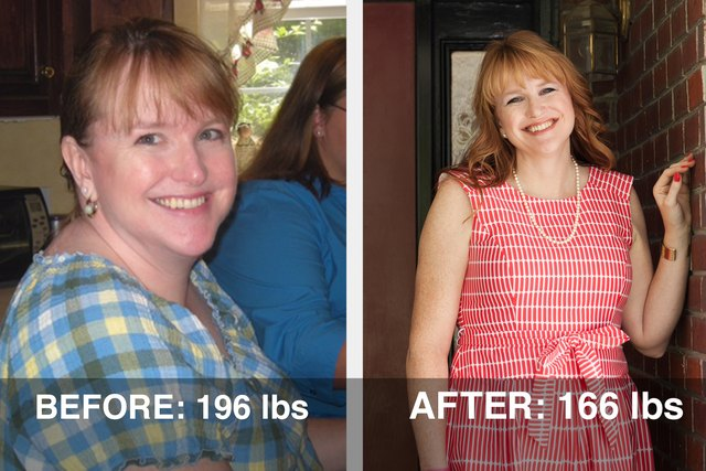 Lara lost 30 pounds after deciding she didn't want her children to adopt her poor eating habits.