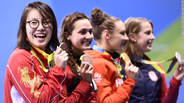 Fu Yuanhui may be an Olympic bronze medal winner, but she gets her period too.
