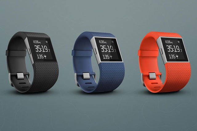 The FitBit Surge can track steps, distance, calories and more.