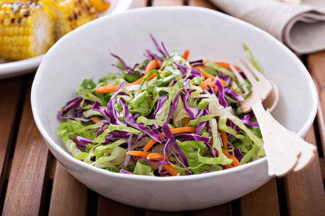 Lighten up your cole slaw with cholesterol-free mayo.