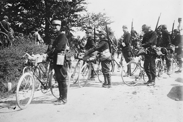 """France - Cyclists of Army,"" between ca. 1914 and ca. 1915"