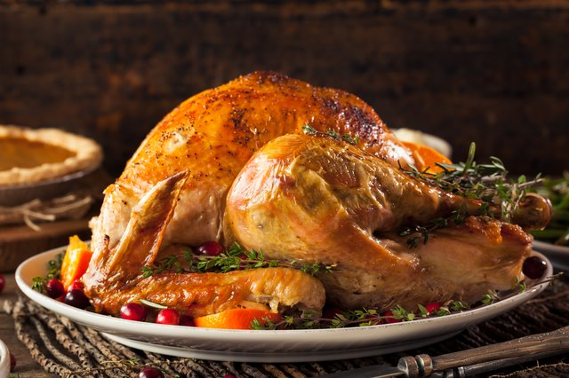 Organic turkeys cook quicker than industrial birds.