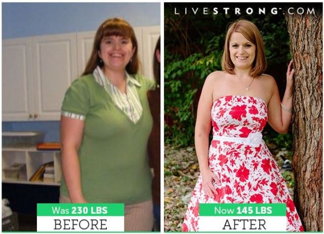 Amanda lost 85 pounds and dropped seven sizes!